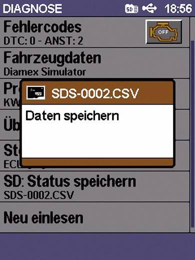 Diamex 7101 OBD II Handheld Analyser met PC-aansluiting Scan Devil II
