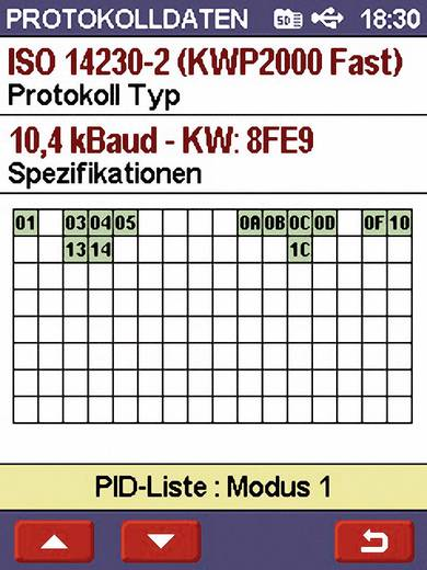 OBD II Handheld Analyser met PC-aansluiting Scan Devil II Diamex 7101