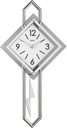 Mebus 665102 Quarz Wandklok 28 cm x 54 cm Glas, Zilver, Wit