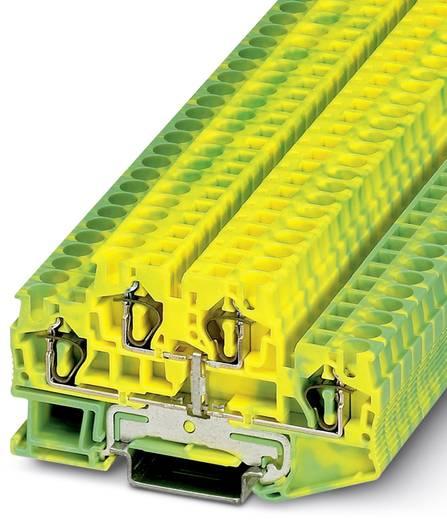 Doorgangsserieklem STTB 4-PE Groen-geel Phoenix Contact 50 stuks
