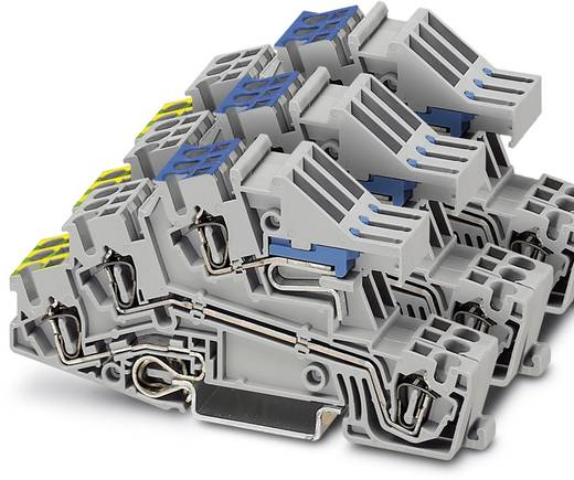 Installatie-etageklem STI 2,5-3PE/3L/3NT Grijs Phoenix Con
