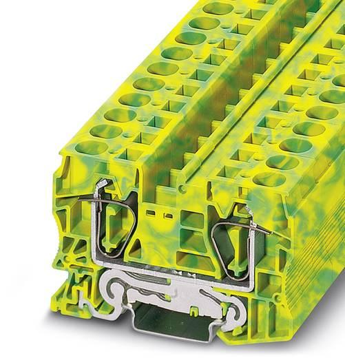 Veerdrukaardklem ST 16-PE Groen-geel Phoenix Contact 25 stuks