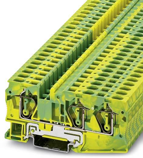 Doorgangsserieklem ST 6-TWIN-PE Groen-geel Phoenix Contact 50 stuks