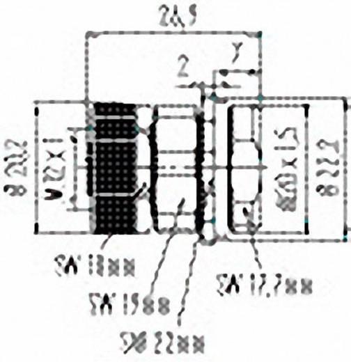 M12 Stekkeraansluiting met flens met schroefklemcontacten serie 713 Flensdoos Binder 99-0432-500-04 IP67 Aantal polen: 4