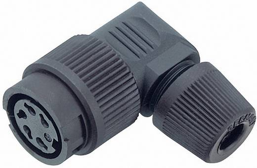 Miniatuur ronde stekker serie 678 Kabeldoos, haaks Binder 99-0606-70-03 IP40 Aantal polen: 3