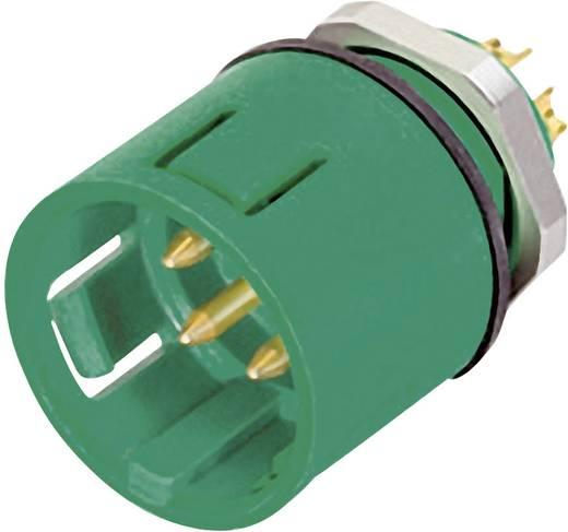 Ronde miniatuuraansluitstekkers met kleurcodering serie 720 Flensstekker Binder 99-9107-70-03 IP67 (in geplugde toestand