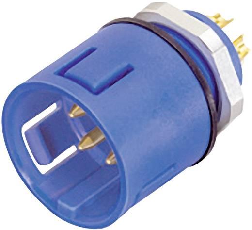 Ronde miniatuuraansluitstekkers met kleurcodering serie 720 Flensstekker Binder 99-9107-60-03 IP67 (in geplugde toestand