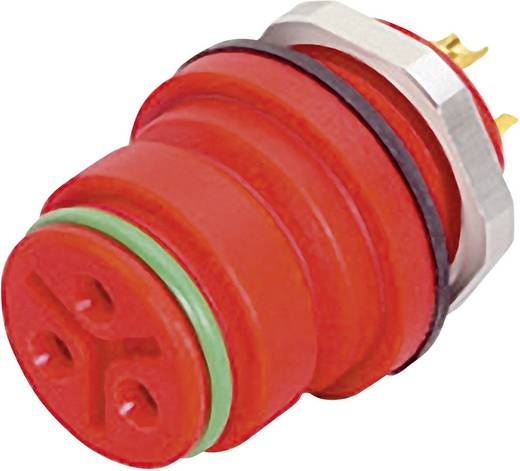 Ronde miniatuuraansluitstekkers met kleurcodering serie 720 Flensdoos Binder 99-9128-50-08 IP67 (in geplugde toestand) A