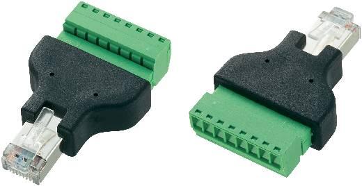 RJ45-stekker met schroefaansluiting Stekker, recht LT-RJ45 Conrad Components 569296 1 stuks