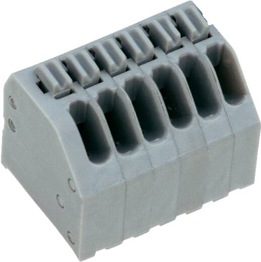 Veerkachtklemblok 0.75 mm² Aantal polen 10 AK4191/10KDVP-2.5 PTR Kiezel-grijs 1 stuks