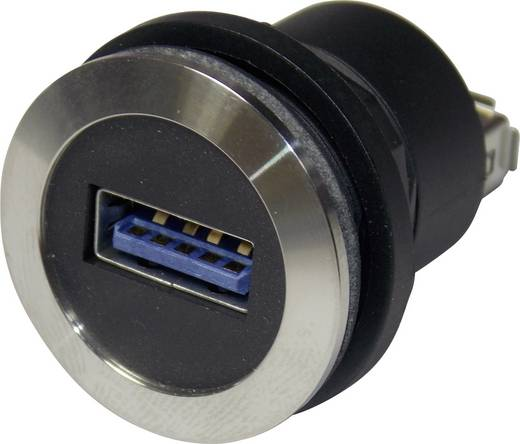 Schlegel RRJVA_USB3_AA USB-inbouwbus 3.0 Voor: USB-bus type A · Achter: USB-bus type A Bus, inbouw 1 stuks