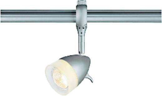 230V-railsysteem lamp Easy Tec II Silber GU10 50 W SLV Kano Zilver-grijs, Wit