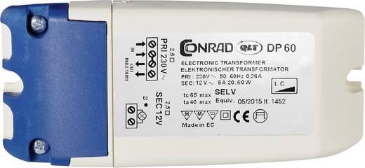 Halogeen transformator DP 60 12 V 20 - 60 W Dimbaar met faseaf- of aansnijdingsdimmer