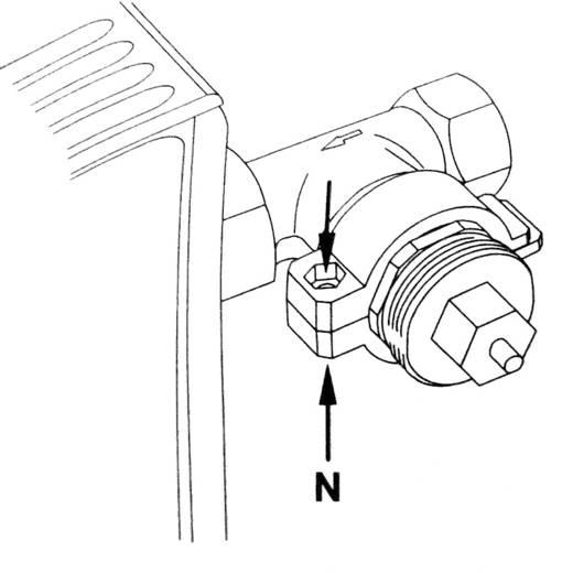 Thermostaatadapter Kunststof Geschikt voor radiator Vaillant