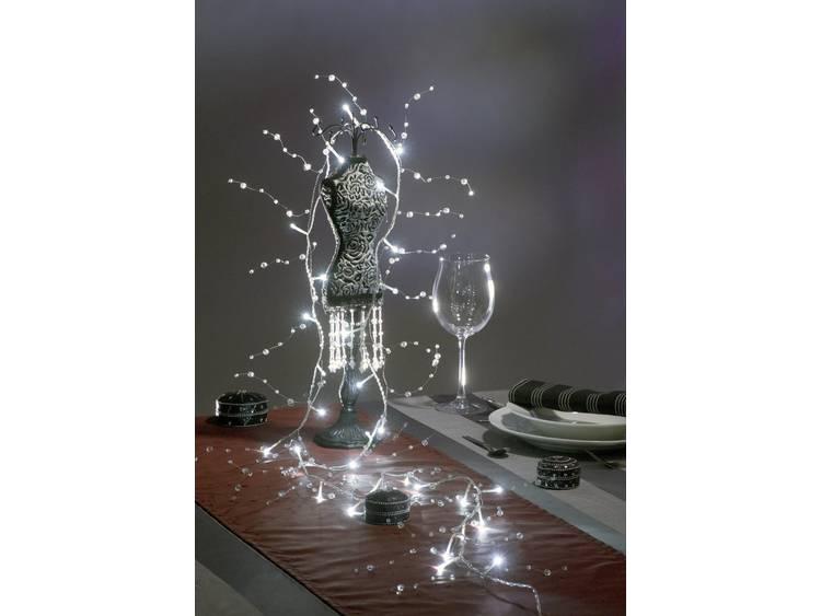 energie A+, LED-lichtketting acryl parels 32 koudwitte dioden voor binnengebruik, Konstsmide