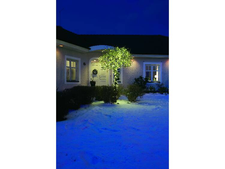 Led-microlichtketting, warmwit, 40-lichts, 16 m