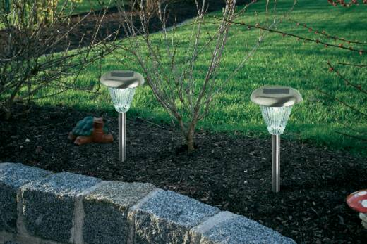 Solar tuinlamp Set van 5 LED Koud-wit RVS