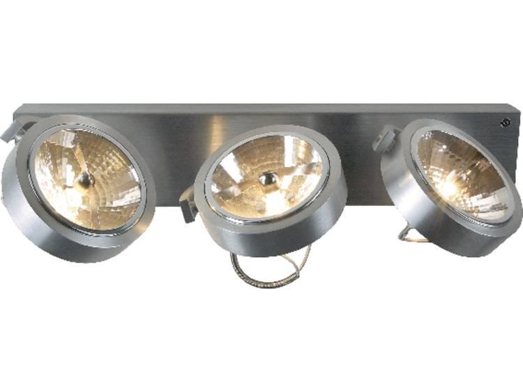 energie A+, Wand- en plafondlamp KALU 3 3-lichtbronnen met cardanische ophanging-350° draaibaar alum