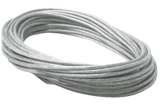 12V-kabelsysteemcomponenten Spankoord Paulmann SPANNSEIL ISOL., KLAR 4 MM 10 M 979055 Transparant, Grijs