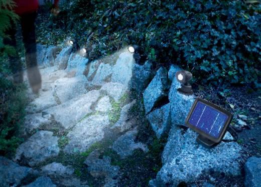 Solarspot met bewegingsmelder LED Koud-wit Renkforce Trio PIR SR302-K Zwart