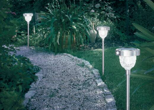 Solar tuinlamp met bewegingsmelder LED 2 W Daglicht-wit Esotec Asinara 102096 RVS