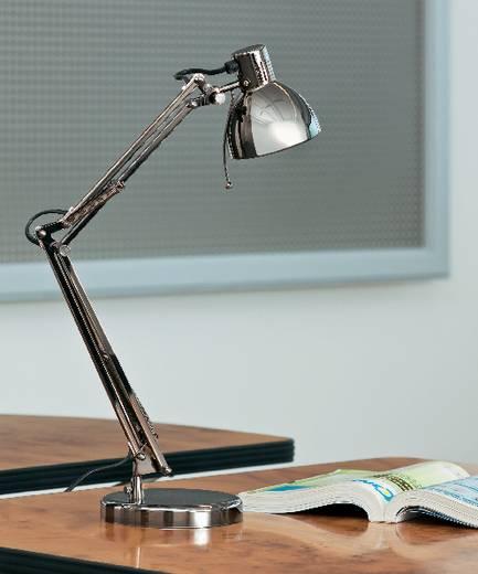 Basetech Bureaulamp Halogeen, Spaarlamp GU10 35 W Donkergrijs