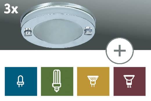 Paulmann Premium Deco Inbouwring Set van 3 Spaarlamp 105 W IP23 Satijn, Chroom