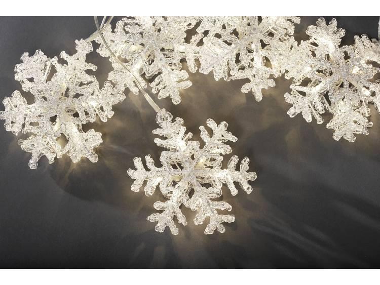 energie A+, LED-lichtgordijn Sneeuwvlokken (5-delige set) acryl 30 witte dioden voor binnengebruik,