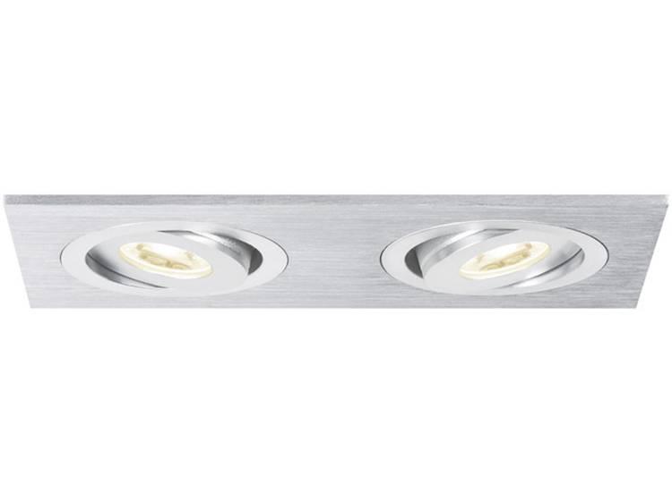 Paulmann 92537 LED-inbouwlamp 6 W Warmwit Aluminium (geborsteld)