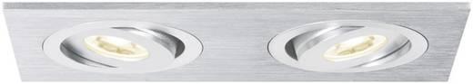 LED-inbouwlamp 6 W 230 V Warm-wit Paulmann 92537 Aluminium (geborsteld)
