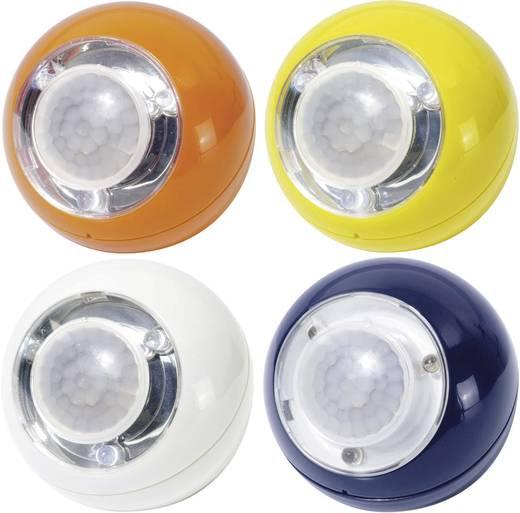 GEV LLL 700 4-pack Kleine mobiele lamp met bewegingsmelder LED Wit, Blauw, Geel, Oranje