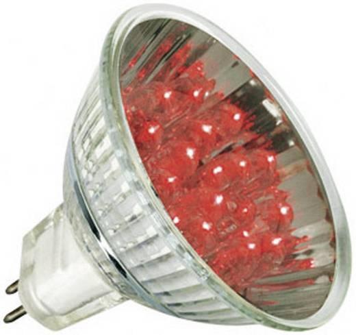 LED-spot GU5.3 1W reflector rood