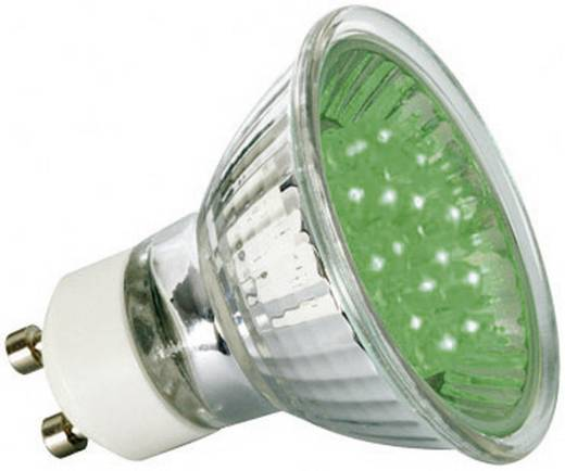 LED-spot GU10 1W reflector groen