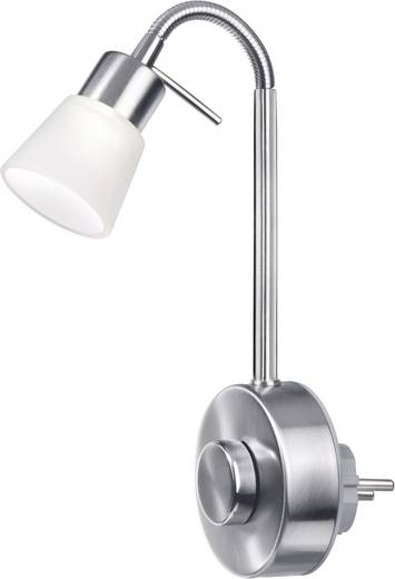 LED-stopcontactlamp 3 W Warmwit Sygonix Catania 34343D Zilver