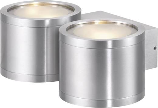 Sygonix Milano 579208 Wandlamp G9 80 W Halogeen Zilver-grijs