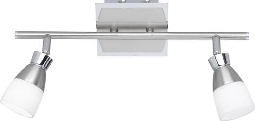 LED-plafondspot 10 W Paul Neuhaus 6939-55 Zilver, Wit
