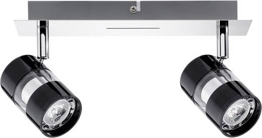 Plafondspot LED GU10 7 W Paulmann Nevo 60187 Zwart, Chroom