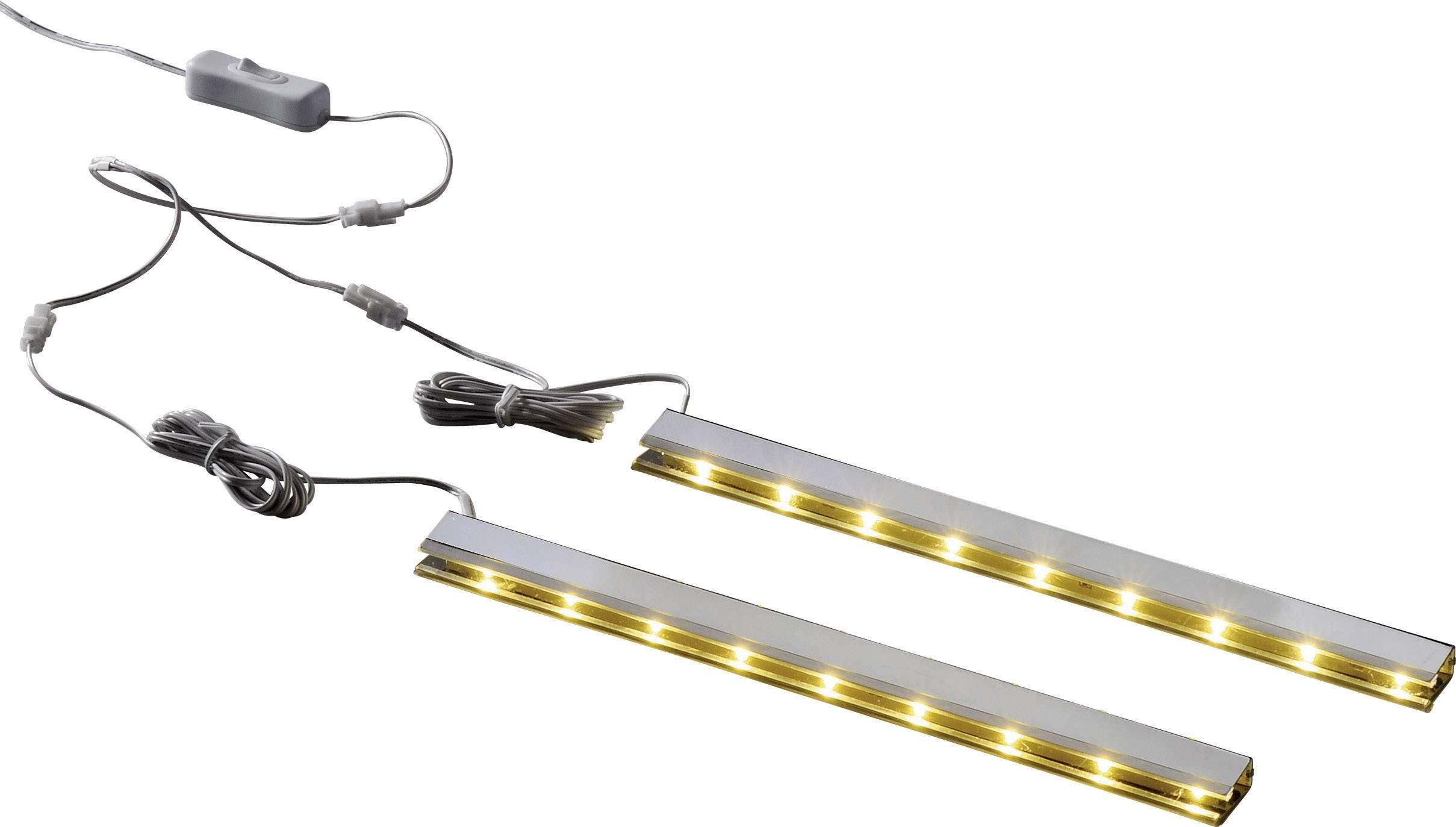 LED-clips verlichting voor glazen schappen, set van 2 stuks, wit ...