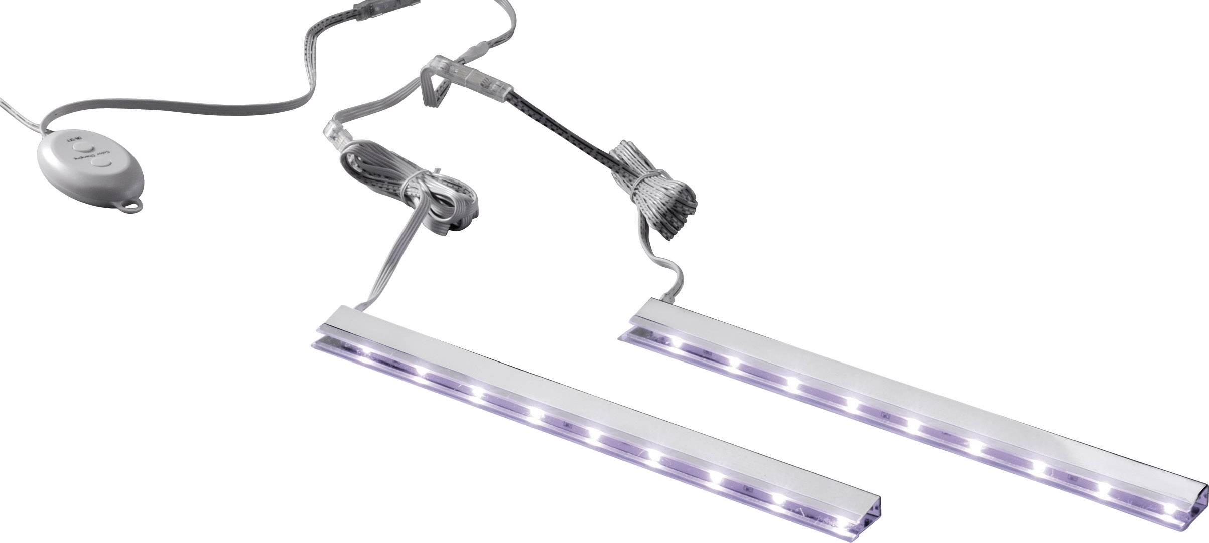 Fonkelnieuw LED-clips verlichting voor glazen schappen, set van 2 stuks, RGB AD-34