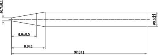 TOOLCRAFT Soldeerpunt Potloodvorm Grootte soldeerpunt 3.5 mm Lengte soldeerpunt 32 mm