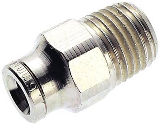 Norgren Rechte koppeling Schroefdraad (buiten): R1/4 Buis-Ø: 6 mm