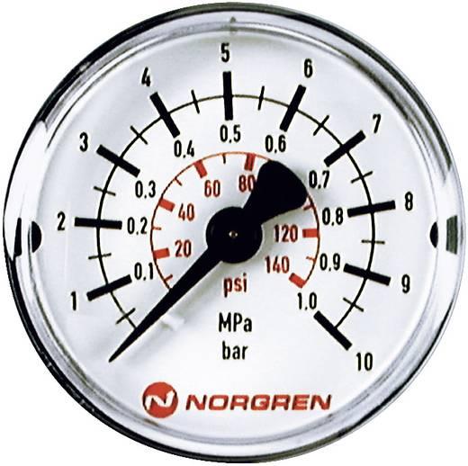 Norgren 18-013-989 Manometer Achterkant 0 tot 10 bar Schroefdraad (buiten) R1/8
