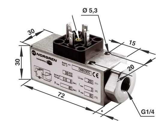 Norgren Drukschakelaar G1/4 0.5 tot 8 bar 1 wisselcontact
