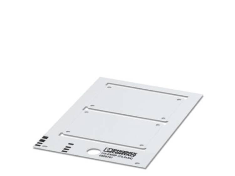 Apparaatmarkering Montagemethode: Schroeven, Nieten Markeringsvlak: 89 x 60 mm Geschikt voor serie Componenten en schakelsystemen Wit Phoenix Contact US-EMSP
