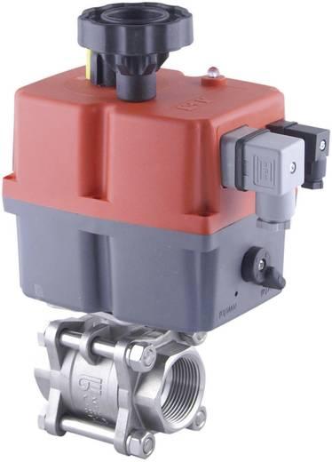 """ICH E8515001544 Kogelkraan RVS/PTFE 2-weg, 3-delig, aansl.G1/2"""" DN15, elektrisch bediend 85-240VAC/DC S=11 s, PN 63 bar"""