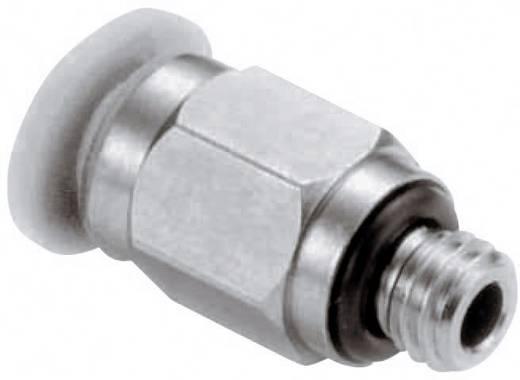 Norgren Rechte koppeling Schroefdraad (buiten): M6 Buis-Ø: 3 mm