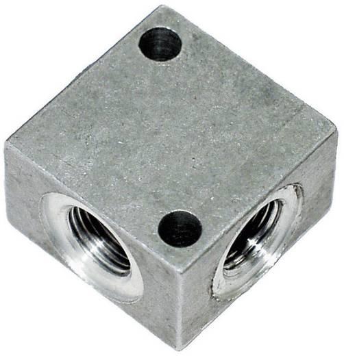 "ICH 60402 Verdeelblok alu. G1/8"" (vierkant 4-voud) l=25"