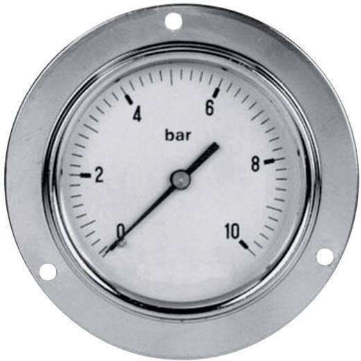 """ICH 3046310 Manometer ø63 paneelmontage 1/4"""", bereik: 0~10 bar, achter aansluiting."""