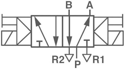Norgren V51B511A-A213J Mechanisch bedienbaar pneumatisch ventiel 5/2-weg 24 V/DC G 1/4 Materiaal (behuizing) Aluminium Afdichtmateriaal NBR