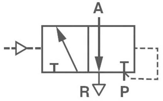 Norgren V50A4D3A-XA090 Mechanisch bedienbaar pneumatisch ventiel 3/2-weg 24 V/DC G 1/8 Materiaal (behuizing) Aluminium Afdichtmateriaal NBR In rust gesloten